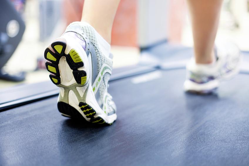 running on treadmill - home fitness focus