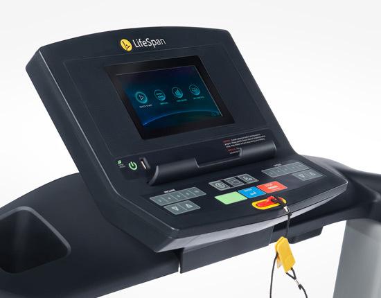 lifespan tr1200i color folding treadmill console
